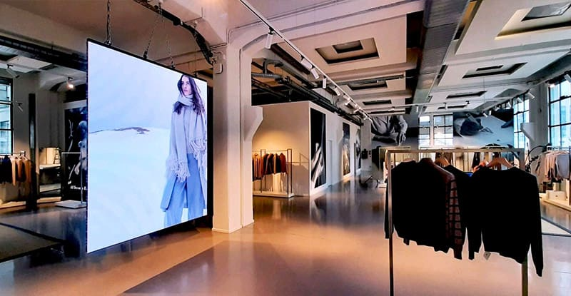 3.5 sqm of p1.9 indoor front maintenance ultra thin led screen