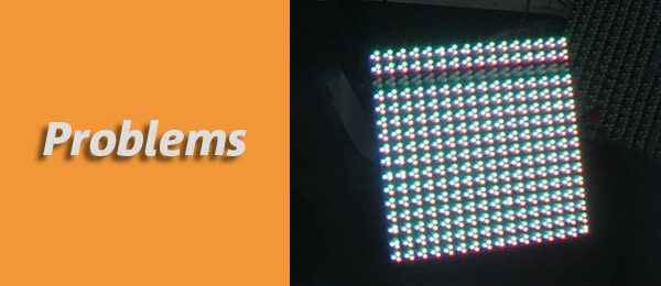 rows missing on led module