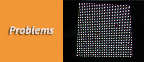 single pixel missing, dark or twinkling